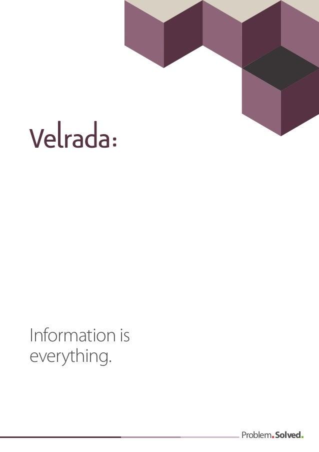 Velrada public sector services brochure