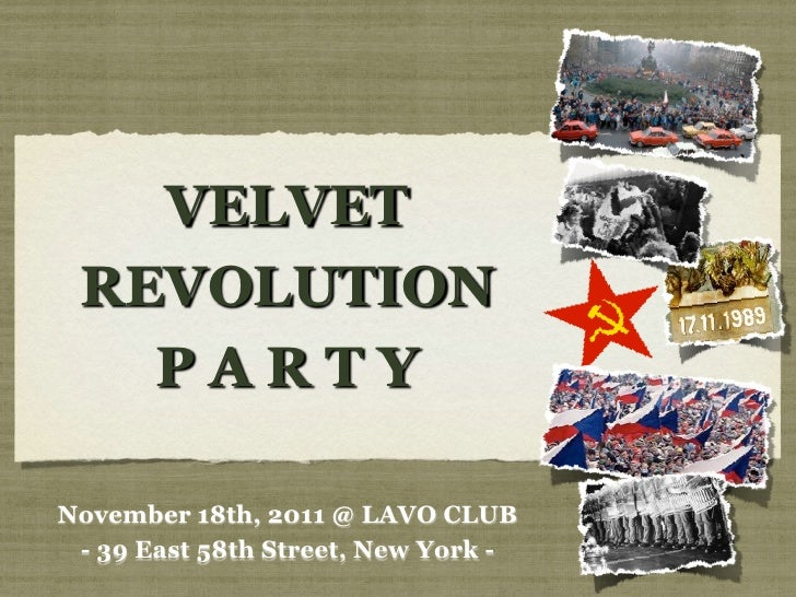 VELVET REVOLUTION   PARTYNovember 18th, 2011 @ LAVO CLUB - 39 East 58th Street, New York -
