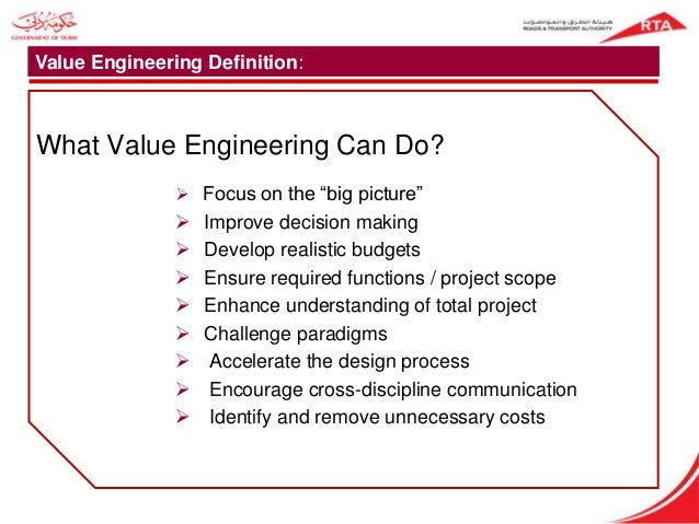 Value engineering for roads highways project for Value engineered