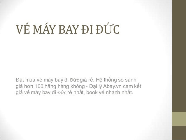 Ve may bay di duc