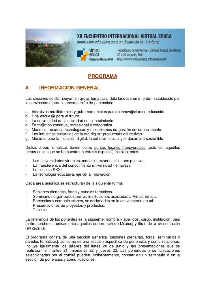 Vemx 2011 programa