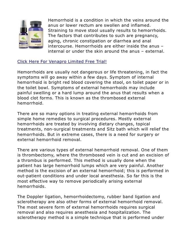 Venapro - External Hemorrhoid Removal