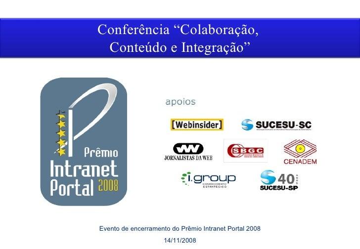 Vencedor Colaboração PIP2008