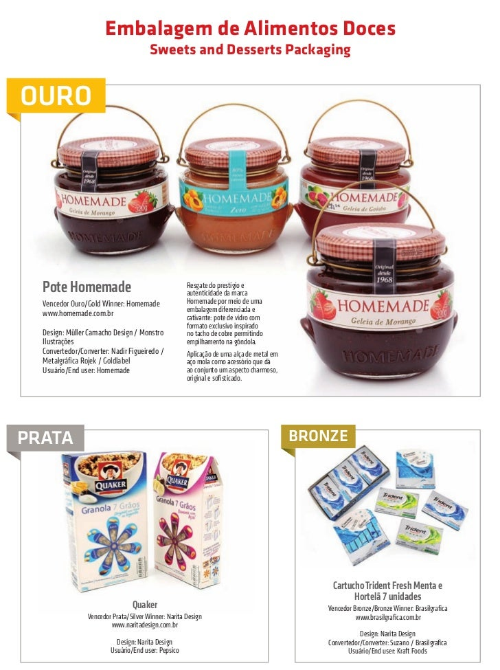 Embalagem de Alimentos Doces                                                              Sweets and Desserts Packaging   ...