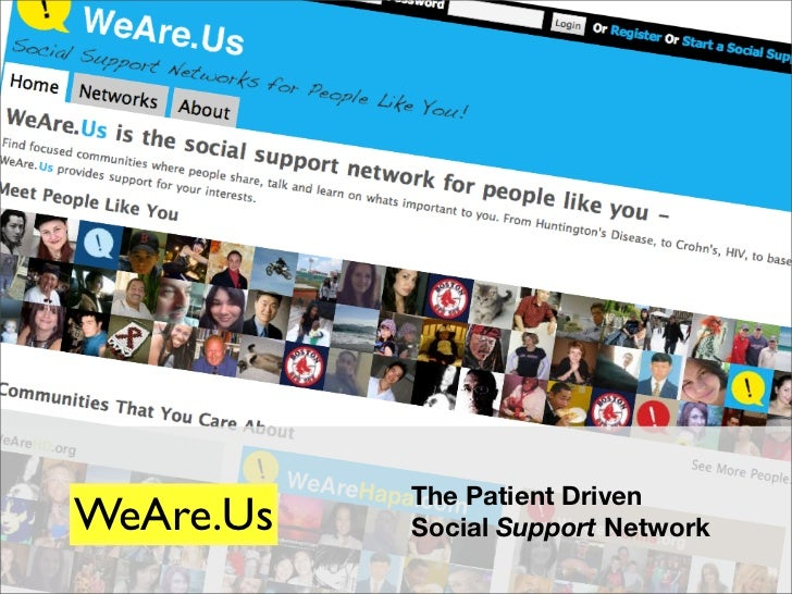 The Patient Driven WeAre.Us   Social Support Network                                1