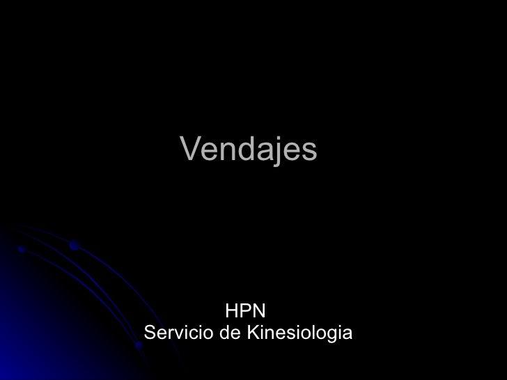 Vendajes  HPN  Servicio de Kinesiologia