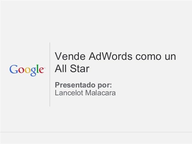 Vende AdWords como un All-Star