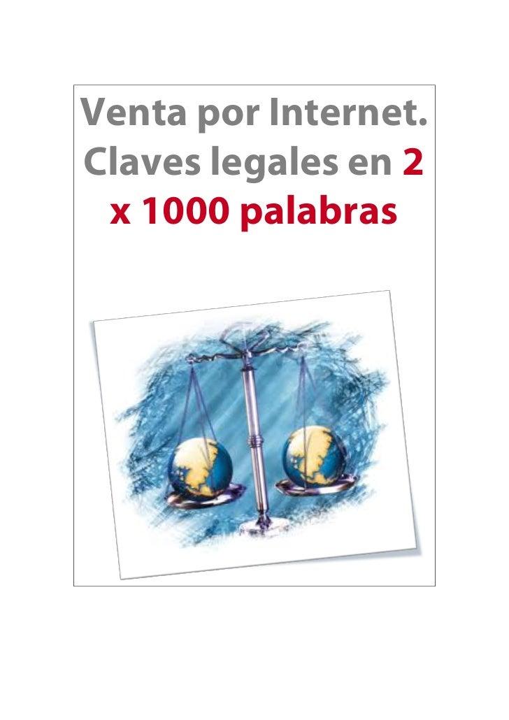 Venta por Internet.Claves legales en 2 x 1000 palabras