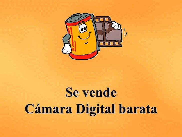 Vendo Camara Digital