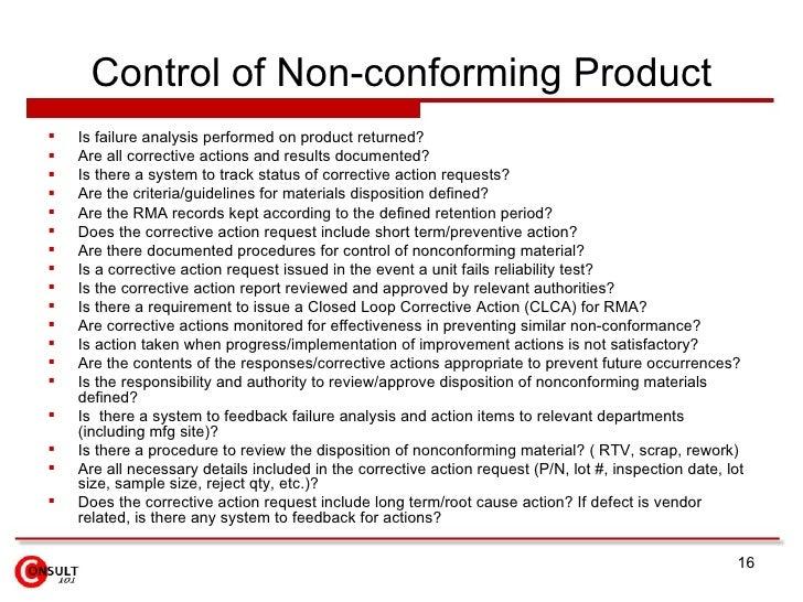 Non Conforming Material Report Form