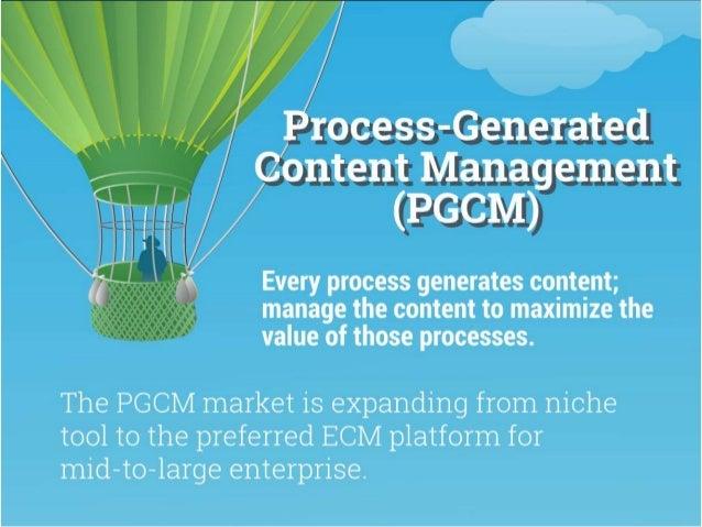 Vendor Landscape: Process Generated Content Management