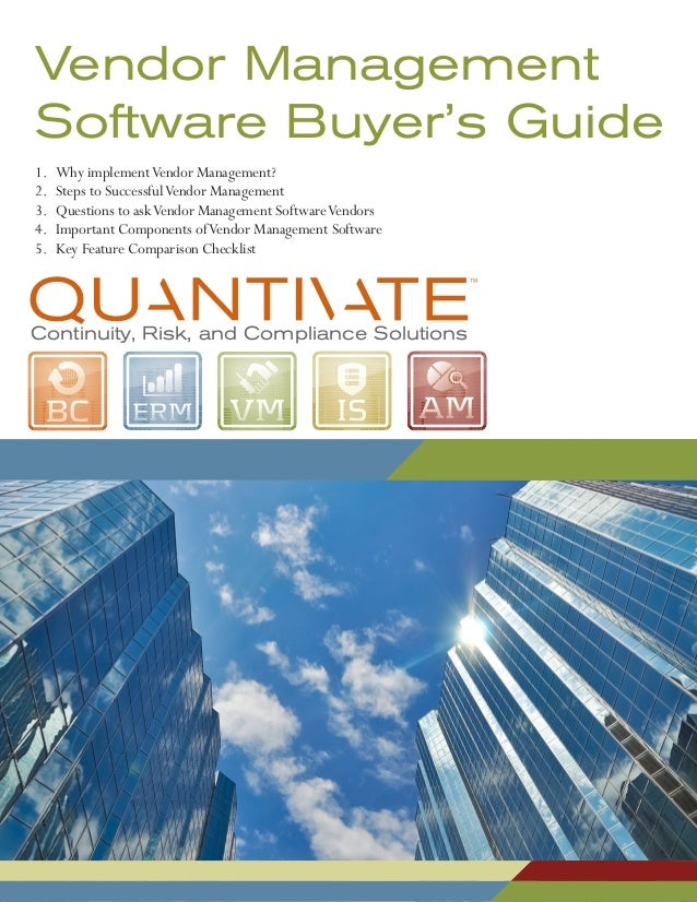 Vendor Management Buyers Guide