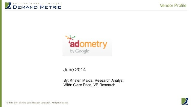 Vendor Profile: Adometry by Google