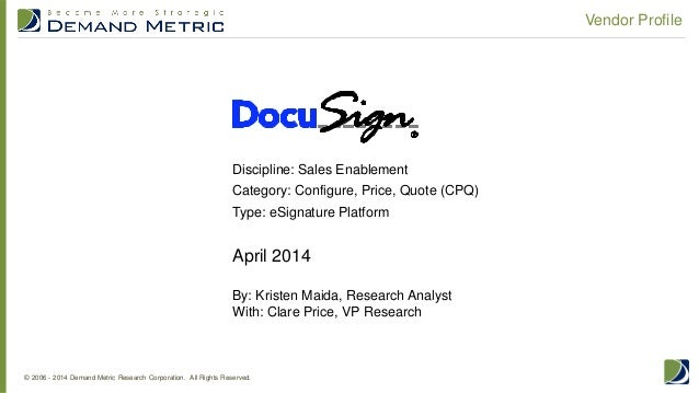 Vendor Profile: DocuSign