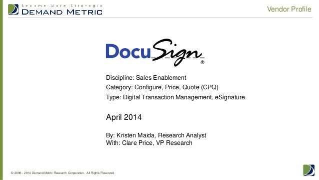 Vendor Profile: DocuSign