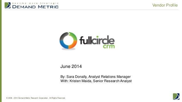 Vendor Profile: Full Circle CRM