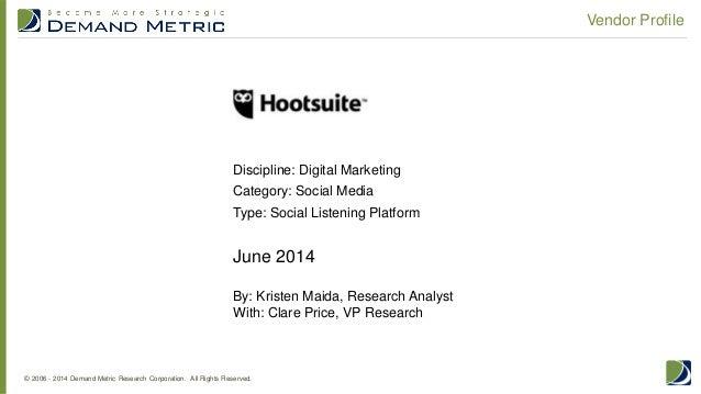 Vendor Profile: Hootsuite