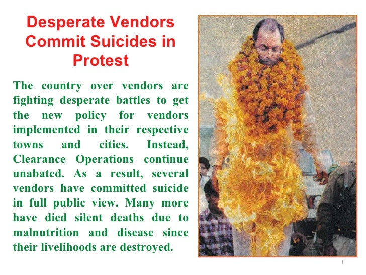 Desperate Vendors Commit Suicides in Protest The country over vendors are fighting desperate battles to get the new policy...