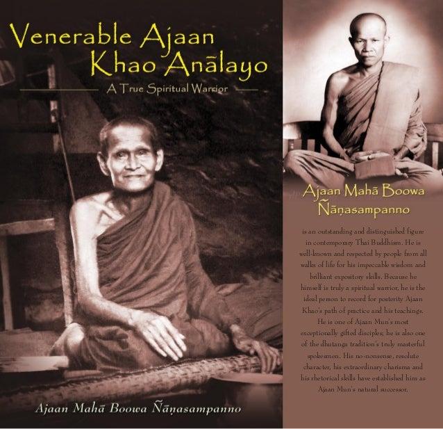 Venerable Ajaan Khao Analayo