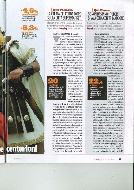 Venerdì Repubblica 10.07.2009 Turismo
