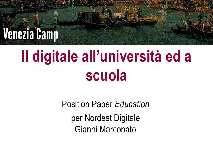 Education digitale - VenezaCamp