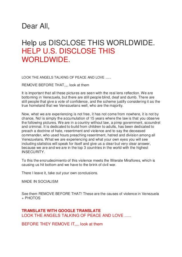 Venezuela disclosure