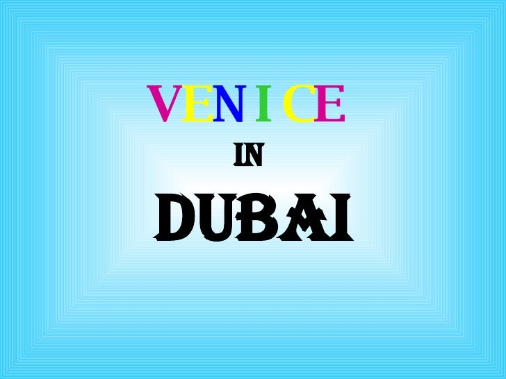 Venice in dubai