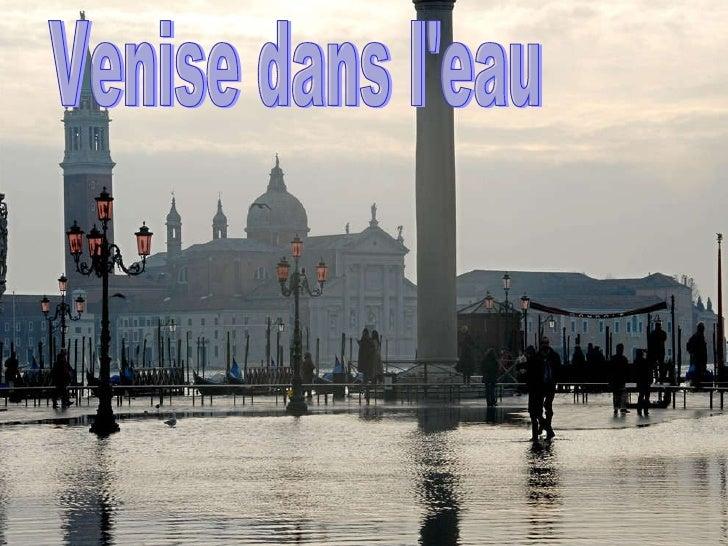 Venise dans l'eau