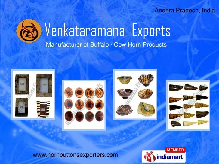 Andhra Pradesh, India <br />Manufacturer of Buffalo / Cow Horn Products<br />