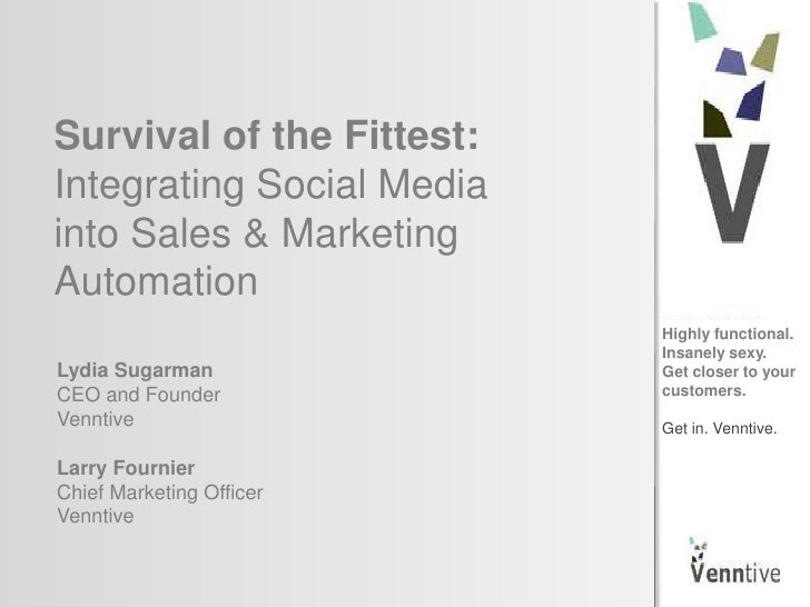 Survival of the Fittest: Integrating Social Media W/ Sales & Marketing