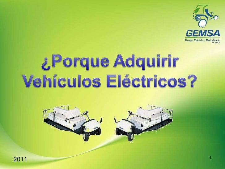 Ventajas de Comprar un Vehiculo Electrico