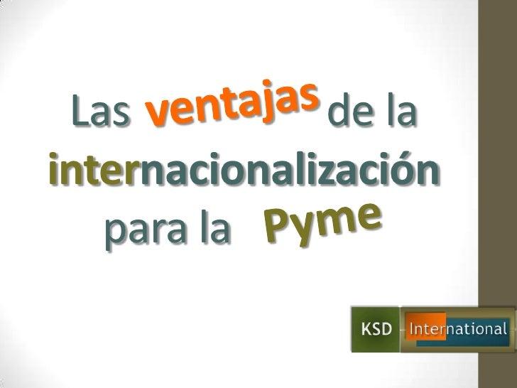 Ventajas de la internacionalización para la pyme