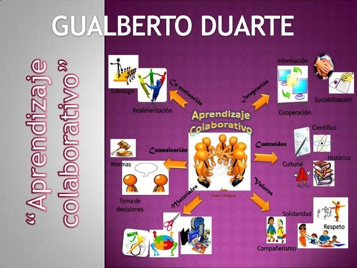"""GUALBERTO DUARTE<br />""""Aprendizaje colaborativo""""<br />"""