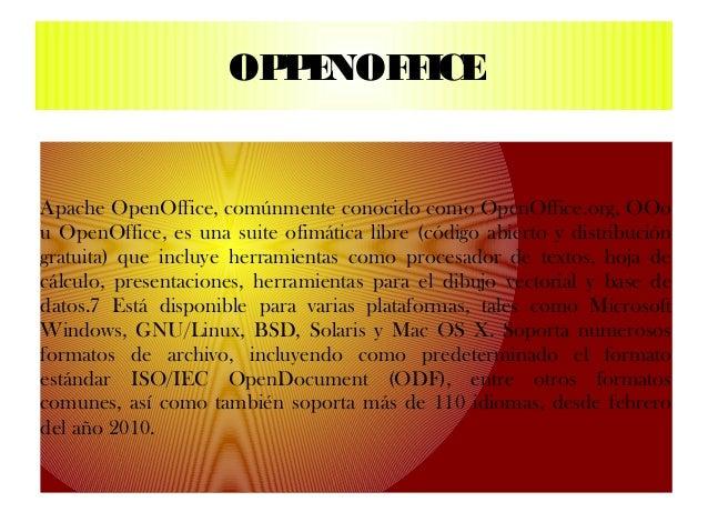 OP E                       P NOF ICE                            FApache OpenOffice, comúnmente conocido como OpenOffice.or...
