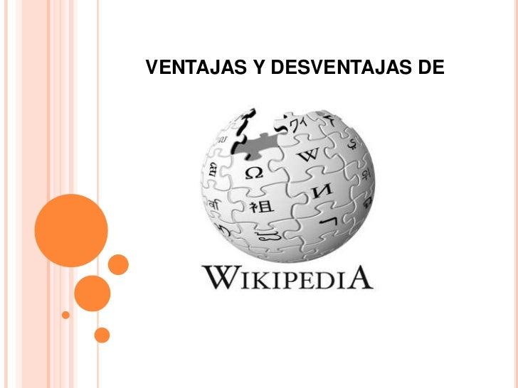 VENTAJAS Y DESVENTAJAS DE