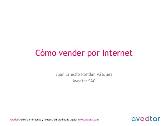 Cómo vender por Internet