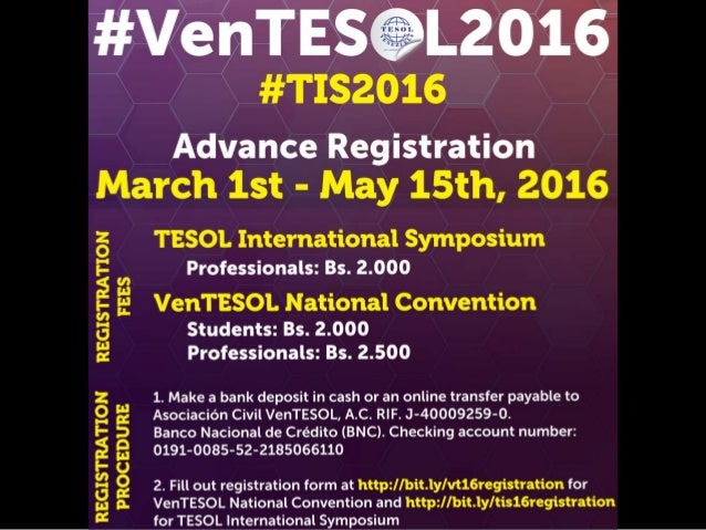 #VenTESOL Latest Announcements