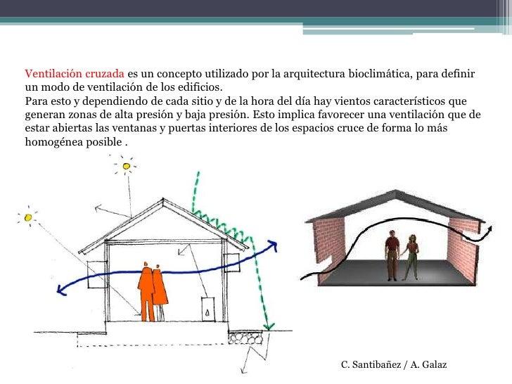 Ventilación cruzada es un concepto utilizado por la arquitectura bioclimática, para definir un modo de ventilación de los ...