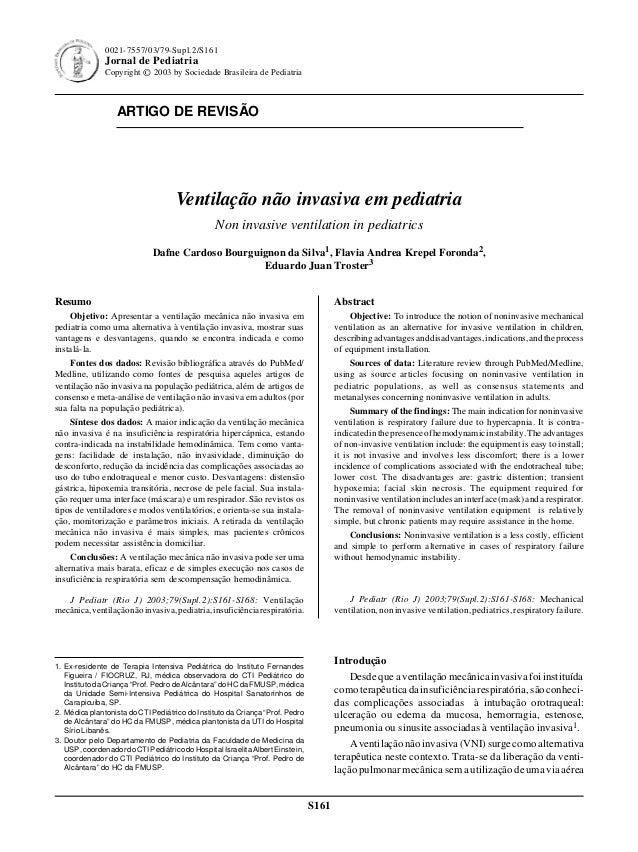 Ventilação não invasiva em pediatria