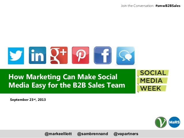 How Marketing Can Make Social Media Easy for the B2B Sales Team