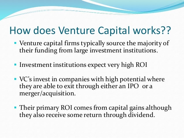 how venture capital works pdf