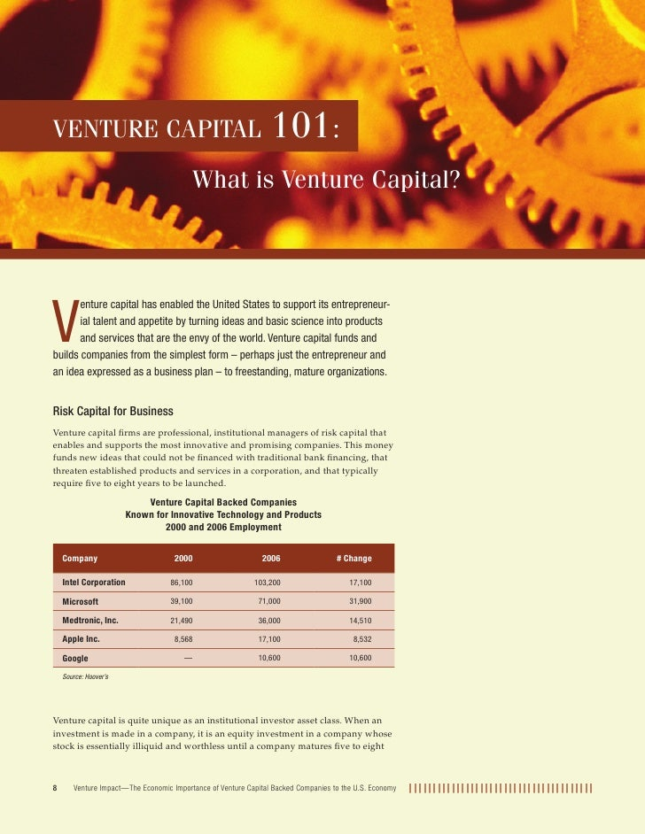 VENTURE CAPITAL                                                 101:                                          What is Vent...