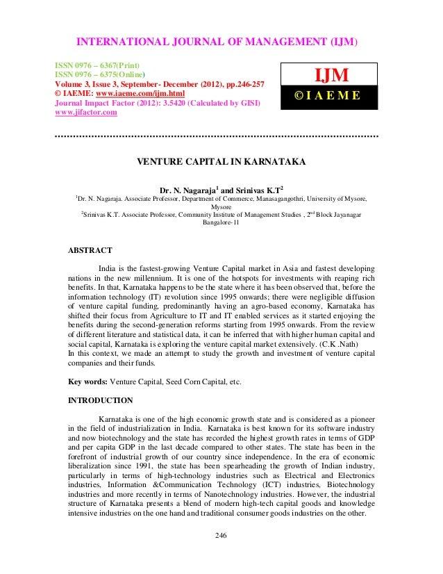 Venture capital in karnataka