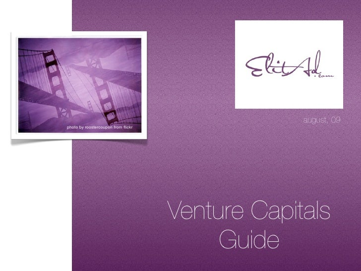Venture Capitals Guide 2009 By ElitAd