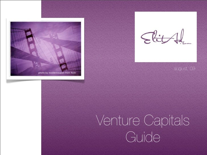 Venture Capitals Guide By Elit Ad