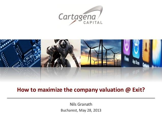Nils GranathBucharest, May 28, 2013How to maximize the company valuation @ Exit?