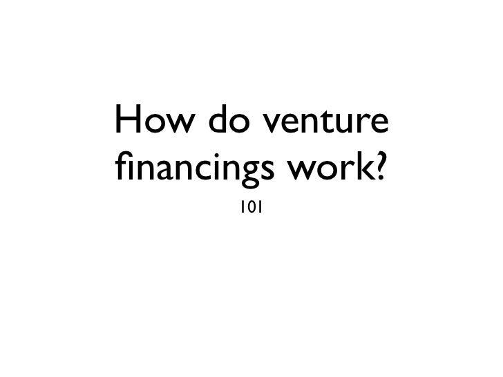 Venture financing
