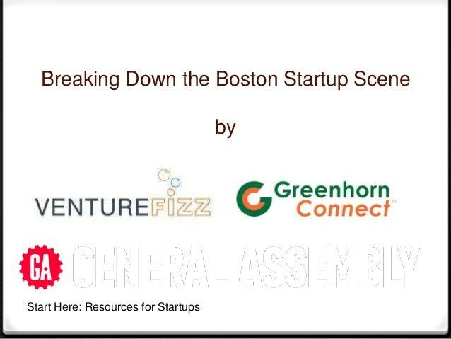 Breaking Down the Boston Startup Scene                                     byStart Here: Resources for Startups