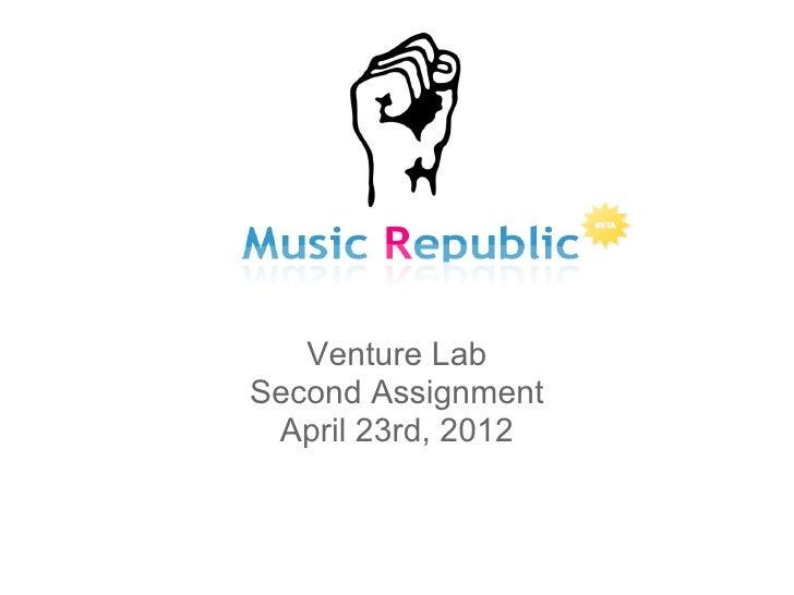 Venture lab.secondassignment.musicrepublic