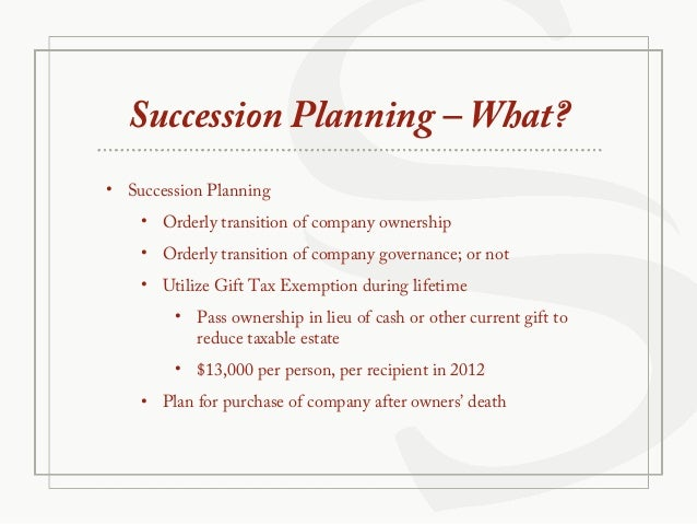Succession planning for small business owners